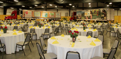 Expo Center set for dinner for more than 300.